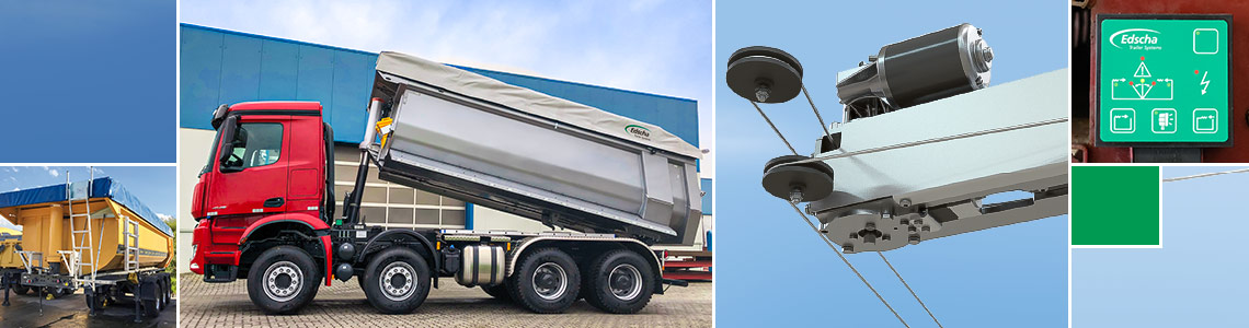 TipperRoof & E-Drive - Edscha TS quality for tippers
